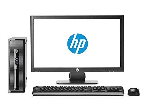 HP Elite 8200 Ordinateur de Bureau Complet avec écran 22' (Intel Core I5-2400, 8 Go de RAM, SSD de 240 Go, DVD, Windows 10 Professionnel Original) Noir (reconditionné)