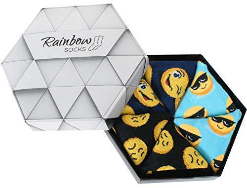 Rainbow Socks - Donna Uomo Divertenti Calze - 3 Paia - Turchese Nero Blu Scuro - Tamao 36-40