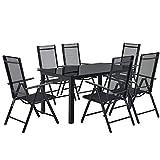 ArtLife Aluminium Gartengarnitur Milano Gartenmöbel Set mit Tisch und 6 Stühlen - 5