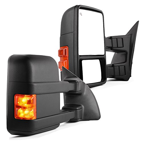 YITAMOTOR Towing Mirrors Compatible with Ford 1999-2007 Ford F250 F350 F450 F550 Super Duty Tow Mirrors Power Heated with Turn Signal Light Side Mirrors 1999 2000 2001 2002 2003 2004 2005 2006 2007