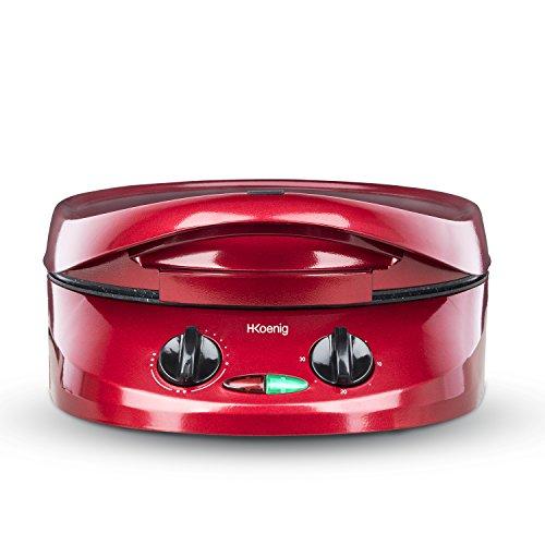 H.Koenig TRT180 Fornetto per Torte/Pizze/Focacce, Temp Max 210, Diametro 30.5 cm, 1800W, Rosso