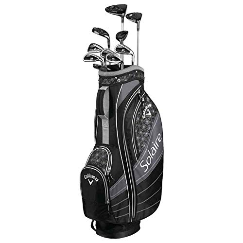 Callaway Solaire Graphite Ladies' Golf Set - Right Hand - Ladies Flex - 11 Clubs + Bag - (Black)
