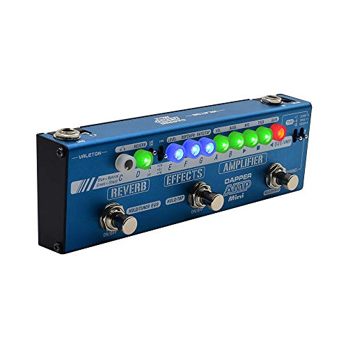 Valeton Dapper Amp Mini Digital Modeling Preamp Amplifier Modeler Guitar Multi-Effects Pedal with Chorus Delay Tremolo Reverb