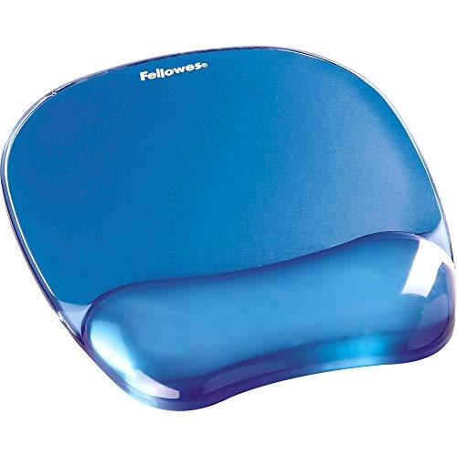 Fellowes Mauspad mit Handgelenkauflage Crystals, mit Gelfüllung, ergonomisch, abwaschbar, blau