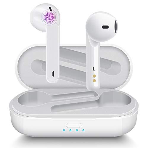 Écouteur Bluetooth Aoslen Écouteurs sans Fil in Ear 5.0 IPX5 Etanche Oreillette avec Contrôle Tactile Double Micro et Étui de Chargement Portable pour iOS Android Samsung Huawei
