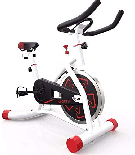 YFFSS Exercise Bikes, Indoor Cycling Bike with Home Ultra-Quiet Pedal Sports Fitness Bicycle Exercise Equipment,Professional Adjustable Indoor Lose Weight Spinning Fitness Bike (Color : White) 1