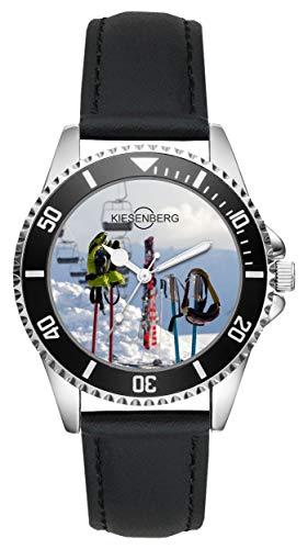 Geschenk für Skifahrer Winter Langlauf Sportler Uhr L-2714