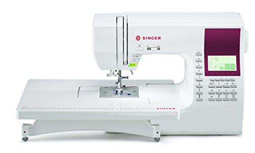 SINGER | 8060 600-Stitch Computerized Sewing Machine with Extension Table and Hard Cover