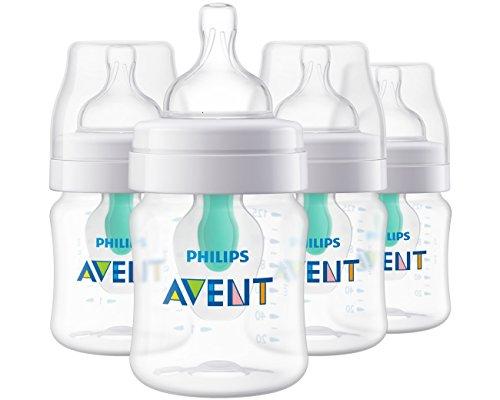 Set de 4 biberones  Philips Avent Anti-colic con sistema AirFree  4 Oz - SCF400/44
