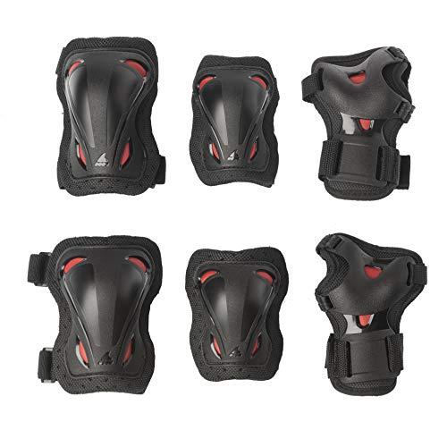 Rollerblade Unisex Jugend Skate Gear JUNIOR 3 Pack Protective, Black/red, XXS