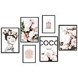 myestado - Tableau Décoration Murale - Set de Poster Premium pour la Maison Salon Chambre Cuisine Bureau - sans Cadres - 4 x DIN A3 & 2 x DIN A4 Set d'images - env. 30 x 42 cm et 21 x 30 cm » Beauty «