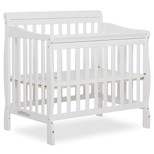 Product Image 1: Dream On Me Aden 4-in-1 Convertible Mini Crib in White, Greenguard Gold Certified