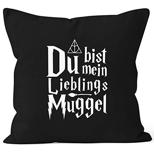 MoonWorks® Kissen-Bezug Du bist Mein Lieblings-Muggel Liebe Spruch Kissen-Hülle Deko-Kissen...