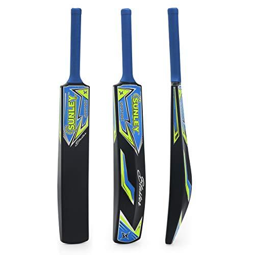 SUNLEY Sarthak Men's Hard Plastic Alloy Cricket Bat (Full Size, Black)