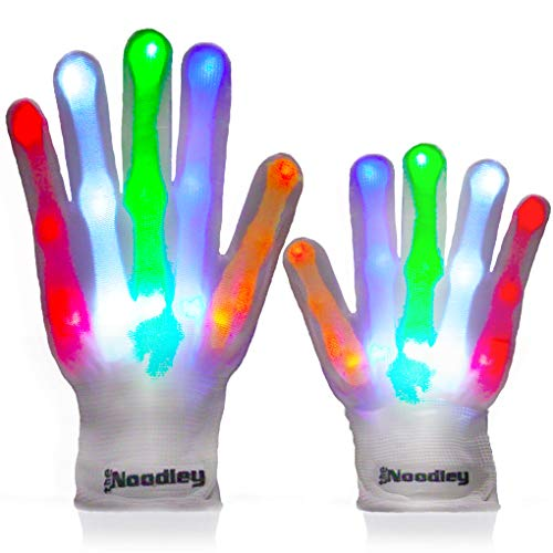 The Noodley Thin LED Light Up Gloves for Kids Cool Toys for...