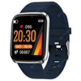 Sprinto WX02 Smart Wrist Band Intelligent Bracelet Waterproof Fitness Tracker Smart Watch Color Screen with Heart Rate Blood Pressure Calories Pedometer Sleep Monitor Etc. (Rendom Color)