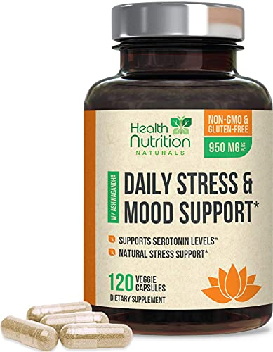 Stress Support Supplement 1000mg, Natural Herbal Formula for...