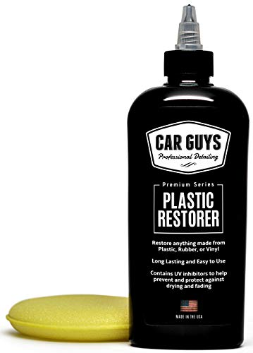 CarGuys Plastic Restorer - The Ultimate Solution for Bringing Rubber, Vinyl and Plastic Back to Life! - 8 oz Kit
