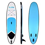 DAMA Youth Board (10') Inflatable Sup Board, Drop Stitch & PVC, All Round Board, Kids Board, Kayaka Board, Light Package, Floating Paddle, Hand Pump Quick Inflate, Safe Leash, Youth & Beginner, Blue