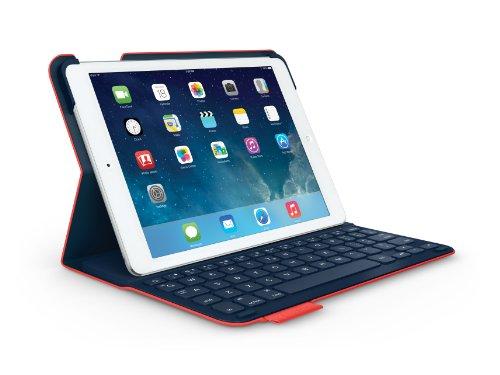 LOGICOOL ウルトラスリム キーボード フォリオ for iPad Air レッド TF725SERD