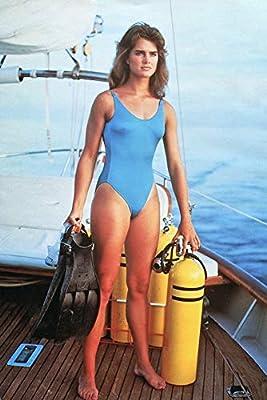 Title=Brooke Shields - blue one piece on boat Artist=N/A Product Type=Photo Print Publisher=Dark Art Portal