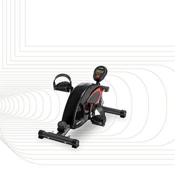 SportPlus mini vélo, ordinateur d'entraînement, freinage magnétique silencieux, 8 niveaux de résistance, personnes âgées, pour la maison et le bureau, sécurité testée jusqu'à 110 kg, SP-HT-0001