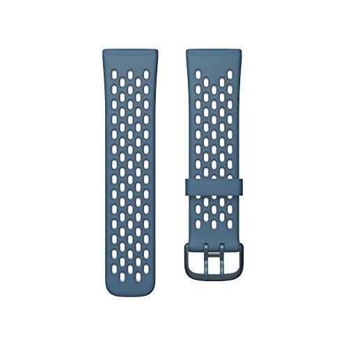 Fitbit フィットビット Versa3 / Sense 専用 純正 交換用 スポーツ リストバンド Sapphire/Fog Grey サファ...