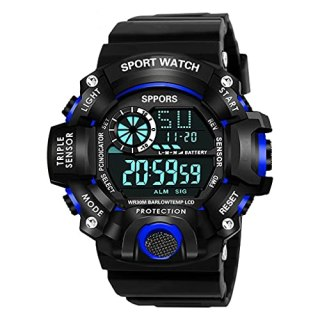 Casera Digital Sport Day and Date Display Multi Dial Watches for Boy and Men Watch