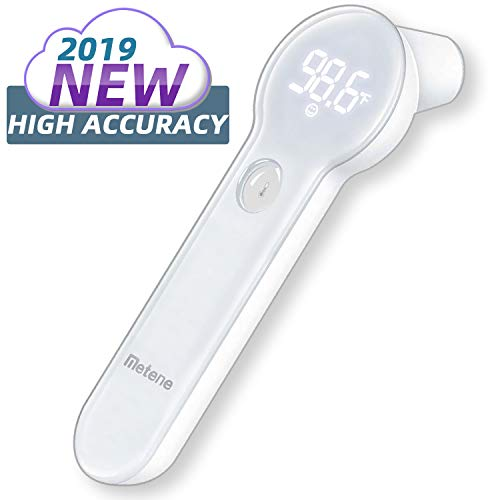 Baby Thermometer for Fever, Instant Reading Medical Digital Forehead and Ear Thermometer, Metene Infrared Infant Thermometer for Best Accuracy with Indicator for Kids, Toddlers, and Adults
