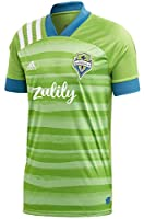 Moisture-absorbing AEROREADY technology This jersey is made with recycled polyester to save resources and decrease emissions 100% recycled polyester interlock Seattle Sounders FC woven crest Ribbed cuffs