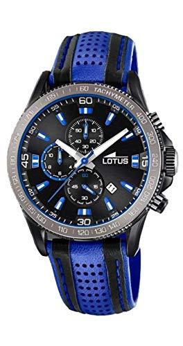 Lotus Herren Analog Quarz Uhr mit Leder Armband 18592/2