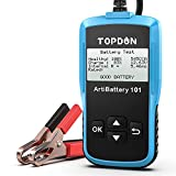 TOPDON AB101 Car Battery Tester 12V Car Battery Load Tester on Cranking Charging Systems, 100-2000 CCA Automotive Alternator Analyzer for Cars/SUVs/Light Trucks with Flooded AGM Gel Types