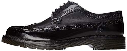 find. Zapato Piel Brogue con Calados para Hombre, Negro (Black), 44 EU