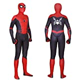 MYanimec Unisex Lycra Spandex Zentai Halloween 2019 New far from Home Cosplay Costumes Suit Adult/Kids 3D Style (Adult-XXL(Height:69-71 Inch), red) …