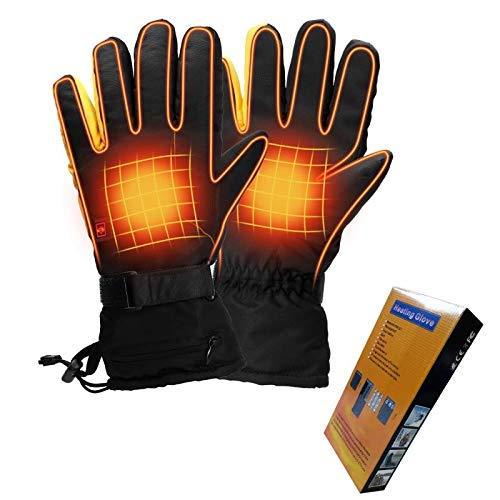 Housefar Guanti riscaldati, con 3 livelli di controllo della temperatura, guanti impermeabili per...
