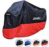 SMARCY® Housse de Protection pour Moto Rouge et Noir XXXL