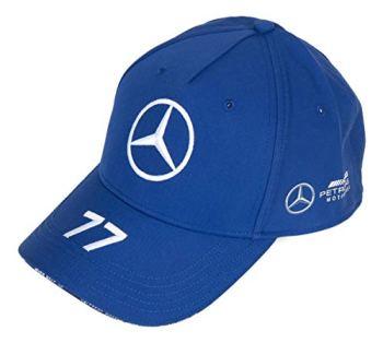 Mercedes Benz AMG Petronas F1 2020 Valtteri Bottas Team Baseball Hat Black/Blue/White (Blue), One Size