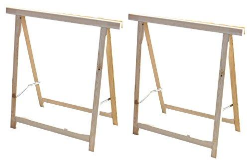 2x Holz Klappbock Unterstellbock Gerüstbock Stützbock Arbeitsbock Stützbalken (2x Klappbock)