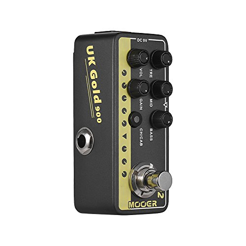 MOOER Digital Preamp Preamplifier Guitar Effect Pedal 002 UK Gold British Crunch MICRO PREAMP Series True Bypass