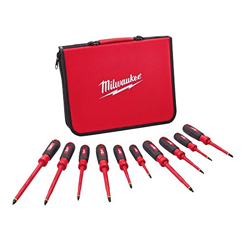 Milwuakee 1000-Volt Insulated Screwdriver Set and Case (10-Piece)
