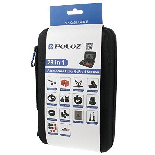 SMARDY Accessori Kit 28pz per Gopro Hero 7 | 6 | 5 | 4 | 3 | 2 HD | 1 | Xiaoyi - Chiave Inglese, Asta Estensibile Monopod, Cinghia da Polso, ECC.