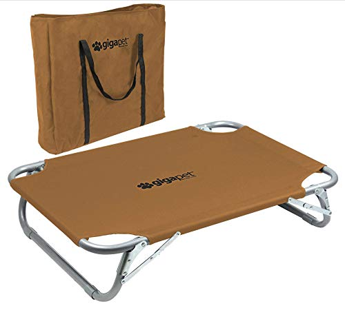 GigaTent Elevated Pet Cot with Steel Frame -...