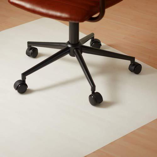 Relaxdays Anti-G Tappeto Protezione Pavimento Sedia Ufficio, Bianco, 90 x 120 cm