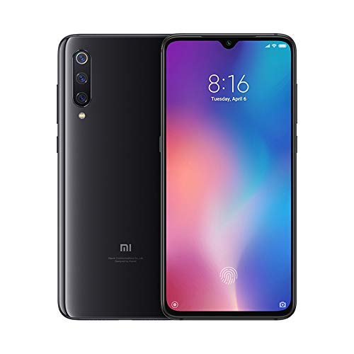 """Xiaomi Mi 9 – Smartphone de AMOLED de 6,39"""" (4G, Octa Core Qualcomm SD 855 2.8 GHz, RAM de 6 GB, memoria de 64 GB, cámara triple de 48 + 16 + 12 MP, Android) color negro piano [Versión española]"""