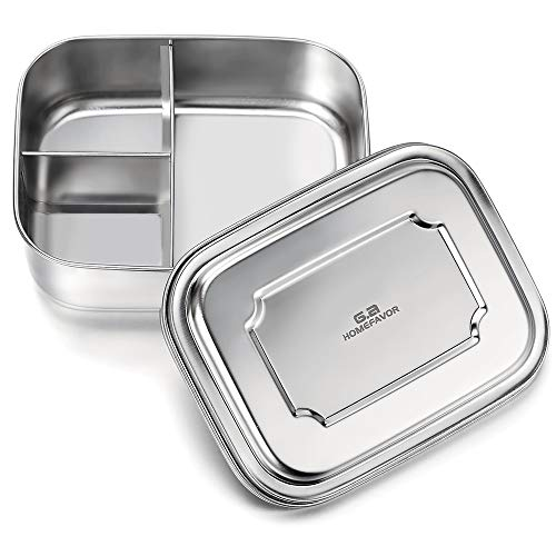 GA Homefavor Lunch Box Fiambrera para la Comida de Acero Inoxidable con Tres...
