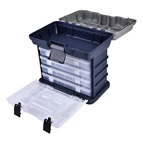 MAGT Shimano Ultegra 14000 Cassetta Attrezzi Pesca/Bait Caso Cassetta degli Attrezzi,Multifunzione 4 Strati Esca per Pesce Esca Attrezzatura da Pesca Utensili Contenitore Cassa,27 26,5 17,5 Cm,Blu