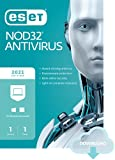 ESET NOD32 Antivirus   2021 Edition   1 Device   1 Year   Antivirus Software   Gamer Mode   Small System Footprint   Official Download with License