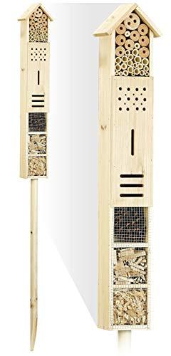 Royal Gardineer Insektenhotel Flip mit Erdspieß als Nisthilfe für Nützlinge, 160 cm