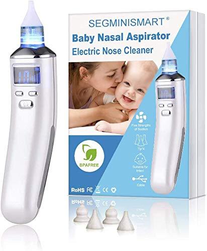 Aspiratore Nasale Neonato, Aspiratore Nasale, Aspiratore Nasale Elettrico, USB di Ricarica, 5...