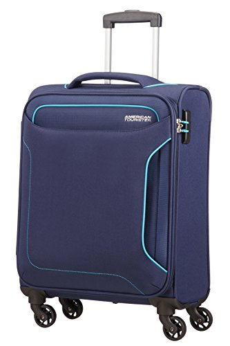 American Tourister Holiday Heat Bagaglio a Mano, Spinner S (55cm-38L), Blu (Navy)